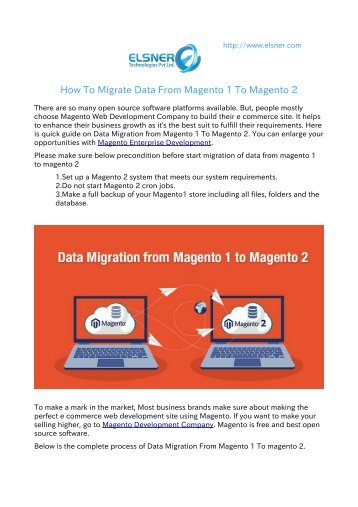 Data Migration From Magento 1 To Magento 2