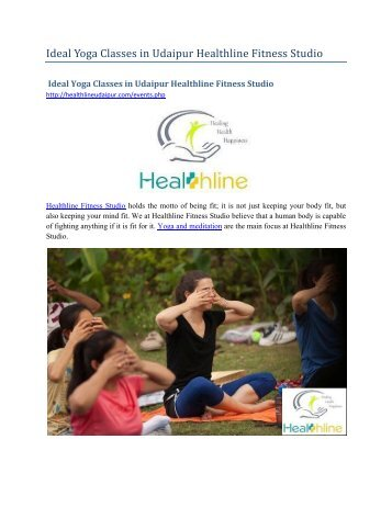 Ideal Yoga Classes in Udaipur Healthline Fitness Studio