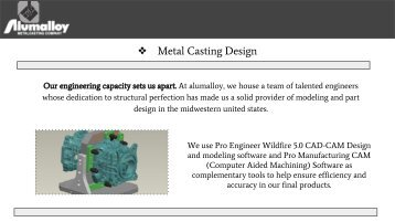 Casting Finishing Services in OH | Alumalloy Metalcastings