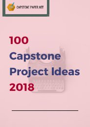 100 Capstone Project Ideas 2018
