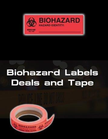 Biohazard Labels, Seals & Tape