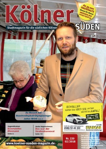 Kölner Süden Magazin Februar 2018
