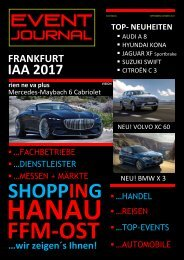 EVENT JOURNAL SEPTEMBER - OKTOBER 2017