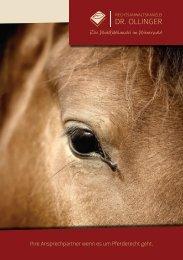 Pferderechtsbroschüre der Rechtsanwaltskanzlei Dr. Ollinger