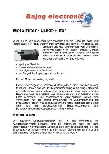 Motorfilter - dU/dt-Filter - EMV New Line GmbH