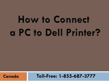 Easy Steps to Connect a PC to a Dell Printer