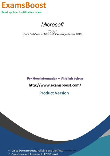 Microsoft 70-341 Passing Guarantee Exam 2018