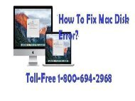 Toll-Free 1-800-694-2968 How To Fix Mac Disk Error?