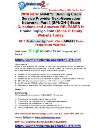 [2018-March-Version]New 640-875 PDF Dumps Free Share(108-118)