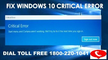 How To Fix Windows 10 Critical Error 18002201041