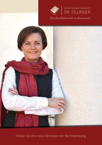 Kanzleibroschüre der Rechtsanwaltskanzlei Dr. Ollinger