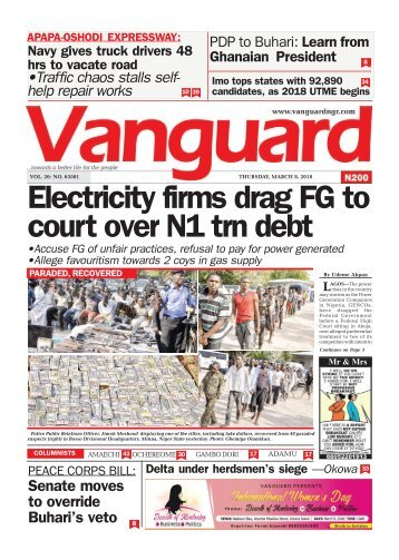 08032018 - Electricity firms drag FG to court over N1 trn debt