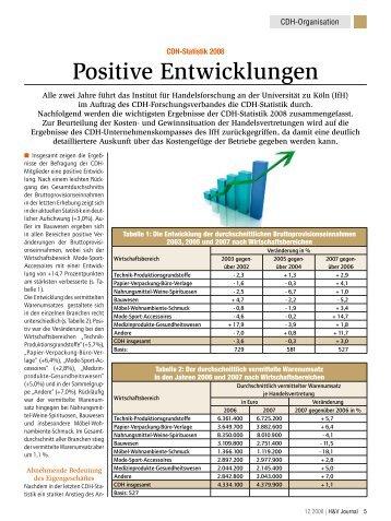 Positive Entwicklungen - CDH