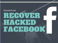 How To Recover Hacked Facebook Account - GoneTech Solution You Can't Miss 08-MARCH-2K18