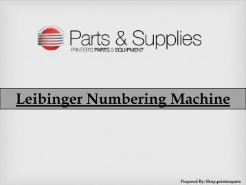 Buy Numbering Machine Leibinger