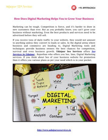 How Does Digital Marketing Help You to Grow Your Business