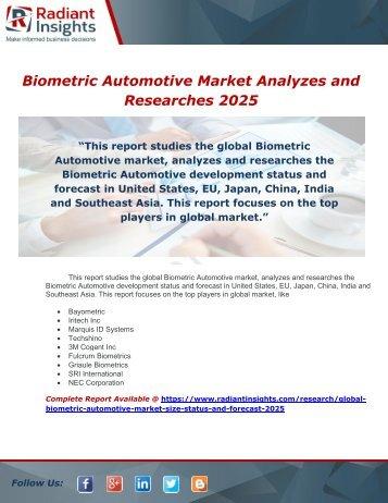 Biometric Automotive Market Analyzes and Researches 2025
