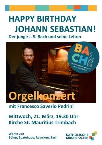18 Geburtstagskonzert Bach