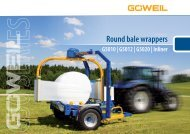 Round Bale Wrappers   G50 Series   Goeweil