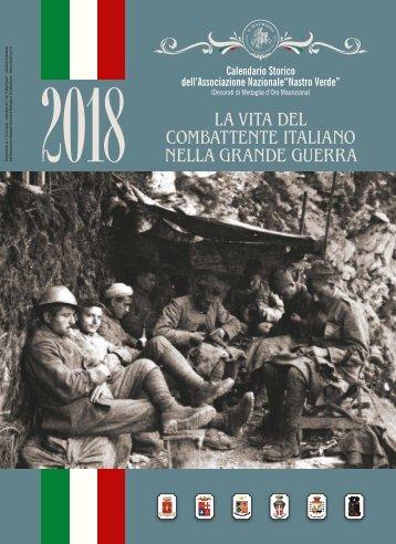 """Nastro Verde: calendario 2018, """"La vita del combattente italiano nella Grande Guerra"""""""