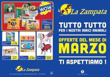 Volantino La Zampata Marzo 2018
