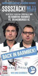 SSSSZACK! HGHB vs. Oranienburger HC