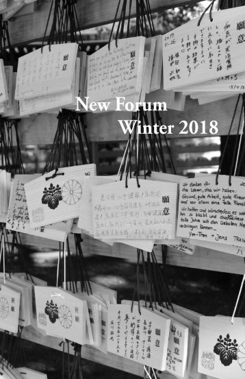 New Forum | Winter 2018