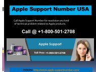 Apple Support Number USA +1-800-501-2708 | Tech Support