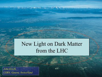 New Light on Dark Matter from the LHC