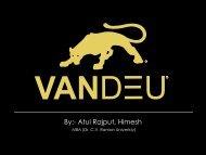 VANDEU analysis Presentation by Atul Kumar