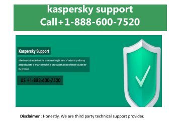 Kaspersky Support +1-888-600-7520 Kaspersky Helpline Number