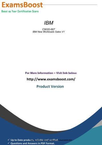 IBM C9020-667 Latest Certification Tests 2018