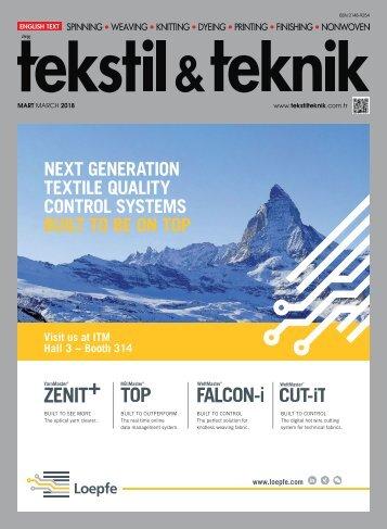 Tekstil Teknik Dergisi Mart 2018 Sayısı