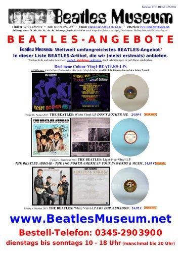 Beatles Museum - Katalog 84 mit Hyperlinks