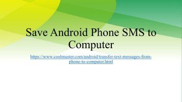 Transfer Text Messages from Phone to MacWindows Computer
