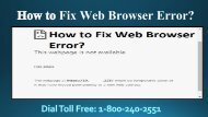 How to Fix Web Browser Error, Dial 18002402551
