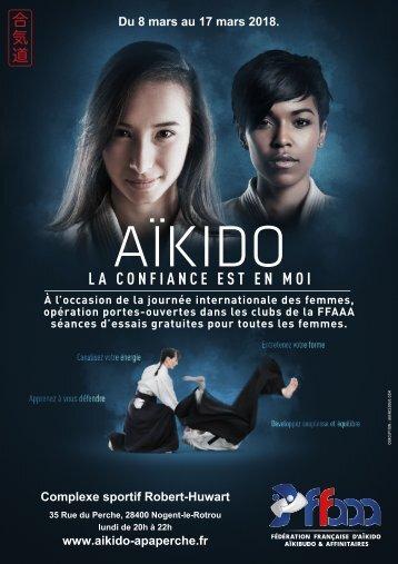 Journée porte ouverte : Aïkido au féminin du 8 au 17 mars 2018