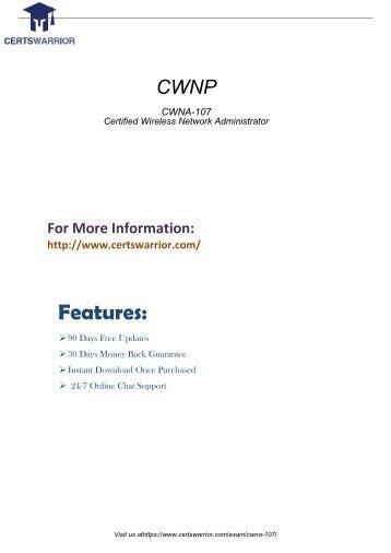 CWNP CWNA-107 Real PDF Exam Material 2018