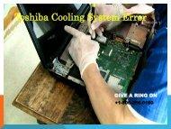 Fix Toshiba Colling System error
