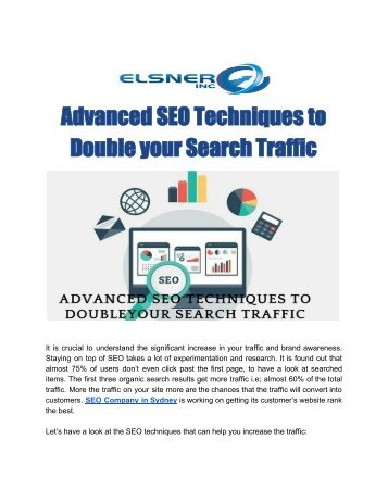 Advanced SEO Techniques to Double your Search Traffic