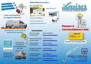 Produkt  Leistungsübersicht Laurer 2018_04