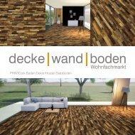 dwb Produktinformation PrintCork Boden Stabboden