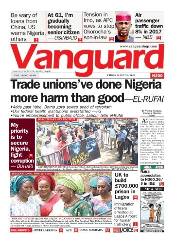 09032018 - Trade unions've done Nigeria more harm than good - El Rufai