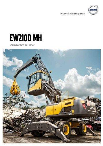 Volvo Mobilbagger EW210D MH - Datenblatt / Produktbeschreibung
