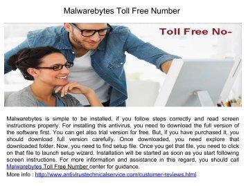 Malwarebytes Toll Free Number