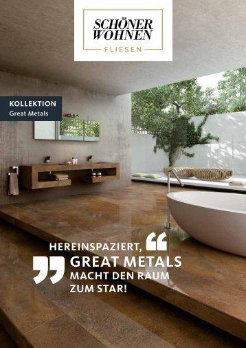Fliesen von SCHÖNER-WOHNEN-FLIESEN-Kollektion: Serie Great Metals