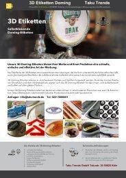 3 D Etiketten Doming Kennzeichnung SuperChrom Etiketten