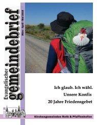 Evang.-luth. Kirchengemeinde Roth - Gemeindebrief März 208 - Mai 2018