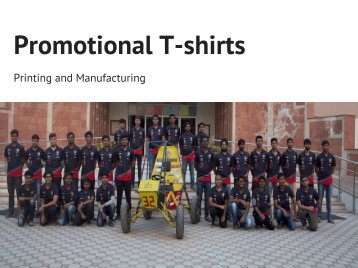 Promotional T-shirts Printing and Manufacturing