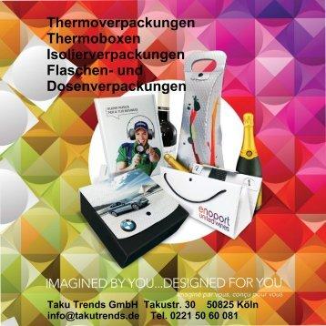 Thermoverpackungen Isolierverpackungen bedrucken lassen